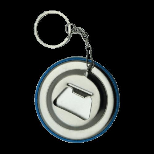 Button met flesopener sleutelhanger