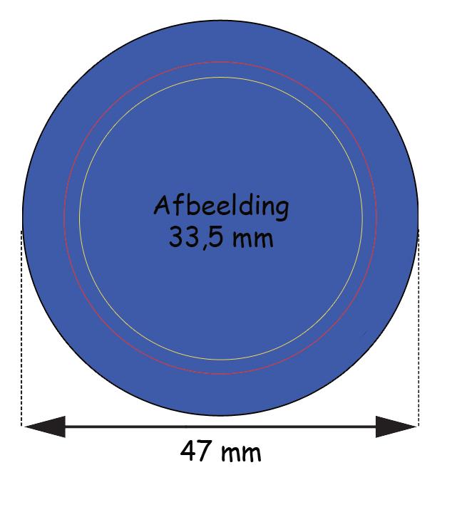Stramien Button 37 mm