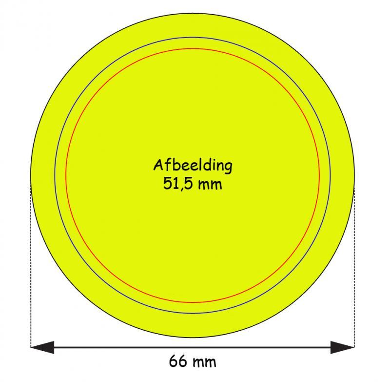 Stramien Button 56 mm