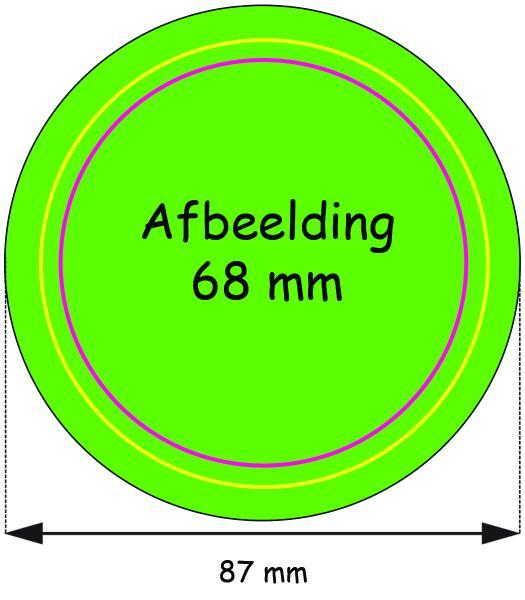 Stramien Button 75 mm